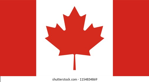 Canada flag vector icon, simple, flat design for web or mobile app