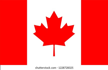 Canada Flag, Vector image and icon