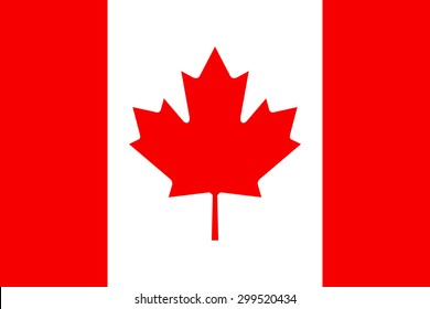 Canada flag.National flag of Canada.vector illustration / Canada flag, official colors and proportion correctly. National Canada flag. Vector illustration. EPS10. / High detailed vector flag of Canada