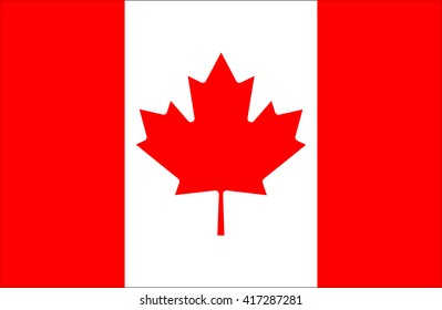 Canada flag.National flag of Canada.vector illustration