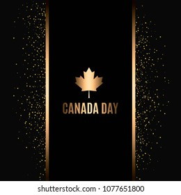 Canada gold Maple Leaf for celebrate the national day of Canada