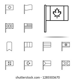 Canada icon. flags icons universal set for web and mobile