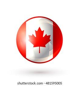 925cf9c79 Canada icon isolated on white background. Canadian flag symbol. Vector  illustration