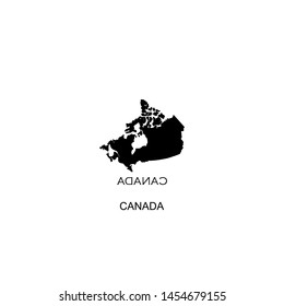canada icon vector black design