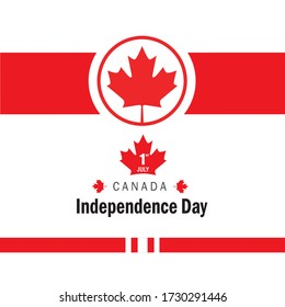 Canada independence day greeting illustration