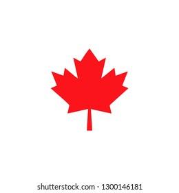 canada leaf symbol icon