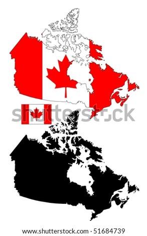 Canada Map Flag.Canada Map Flag Design Stock Vector Royalty Free 51684739