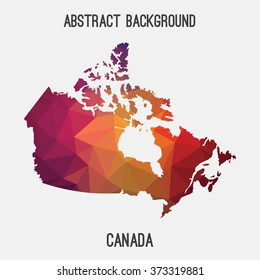 Canada map in geometric polygonal style.Abstract tessellation,modern design background. Vector illustration EPS8