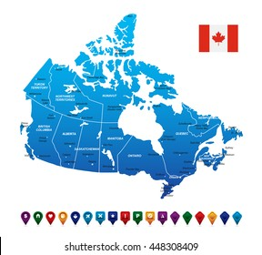 Canada Map vector illustration