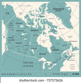 Eastern Canada Map Images, Stock Photos & Vectors | Shutterstock