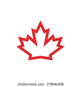 canada maple icon. canadian logo template