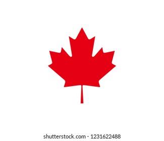 Canada maple icon sign symbol