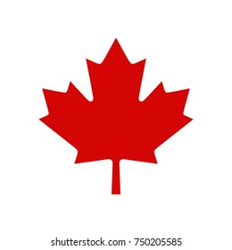Canada Maple Leaf Logo, Vector illustration