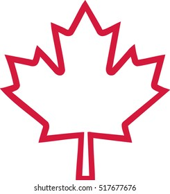 simple maple leaf outline | Theleaf.co