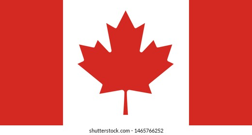 canada national flag red and white colors vector