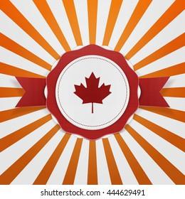 Canada patriotic Emblem with Ribbon