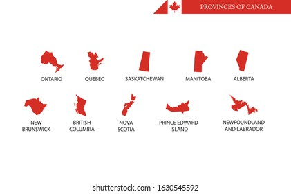 Canada provinces and territories map outline shape