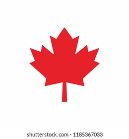 canada red leaf icon design