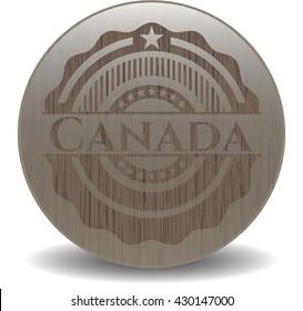 Canada retro style wood emblem