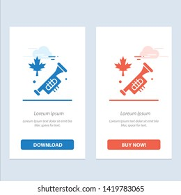Canada, Speaker, Laud  Blue and Red Download and Buy Now web Widget Card Template