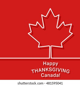 Canada thanksgiving card. Canadian maple leaf symbol. Cover brochures, flyer, card design template. Vector illustration.