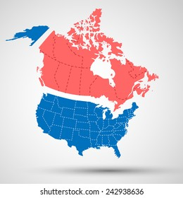Map Canada United States Images, Stock Photos & Vectors | Shutterstock