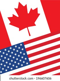 Canada usa flag images stock photos vectors shutterstock canada usa flag background vector publicscrutiny Image collections