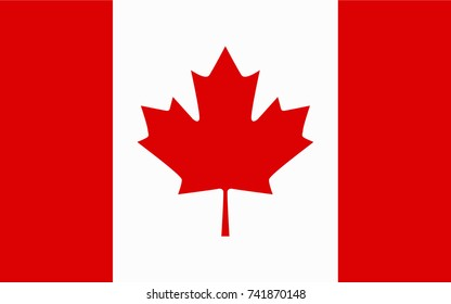 Canada Vector Flag. Vector illustration.