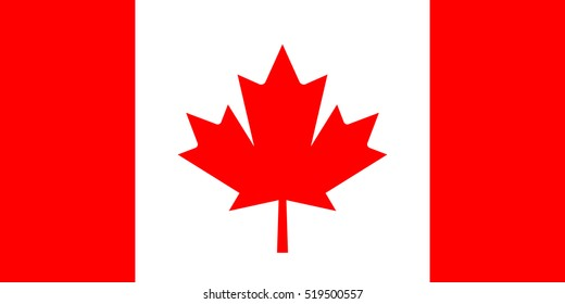 Canada vector flag. Official Canada vector flag with accurate proportions and colors.