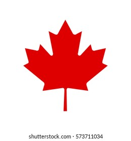 Canada vector symbol,Maple leaf vector icon.Red