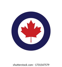 Canadian air force roundel. Military symbol. Vector Illustration