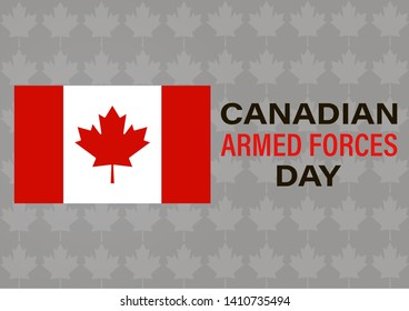 Canadian Armed Forces Day. Maple leaf vector design. Greeting card, poster, banner concept.