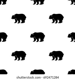 Canadian brown bear. Canada single icon in black style vector symbol stock illustration web.