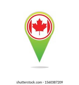 Canadian Flag Map Shapes Vector