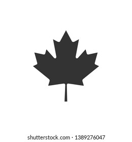 Canadian maple leaf icon isolated. Canada symbol maple leaf. Flat design. Vector Illustration
