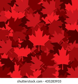 Canadian Maple leaf scatter pattern in vector format.