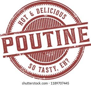 Canadian Poutine Fries Appetizer Menu Stamp
