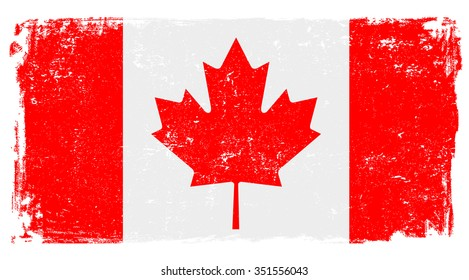 Canadian vector flag isolated on white background.