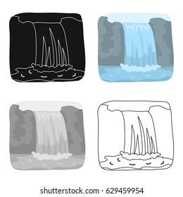 Canadian waterfall. Canada single icon in cartoon style vector symbol stock illustration web.