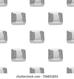 Canadian waterfall. Canada single icon in monochrome style vector symbol stock illustration web.