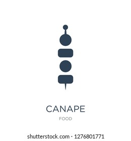 canape icon vector on white background, canape trendy filled icons from Food collection, canape vector illustration