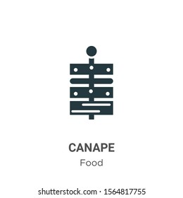 Canape vector icon on white background. Flat vector canape icon symbol sign from modern food collection for mobile concept and web apps design.