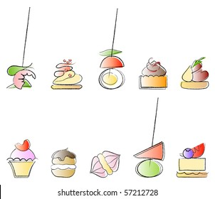 Canapes - savoury and sweet party bites