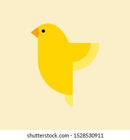 Canary  bird vector. canary bird vector icon in flat style.