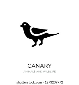 canary icon vector on white background, canary trendy filled icons from Animals and wildlife collection, canary simple element illustration