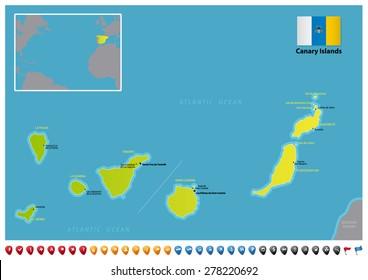 Stockvektorer Bilder Och Vektorgrafik Med La Palma Canarias