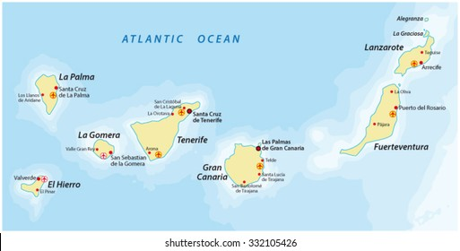 Balearic Islands Political Map Capital Palma Stock Photo Photo