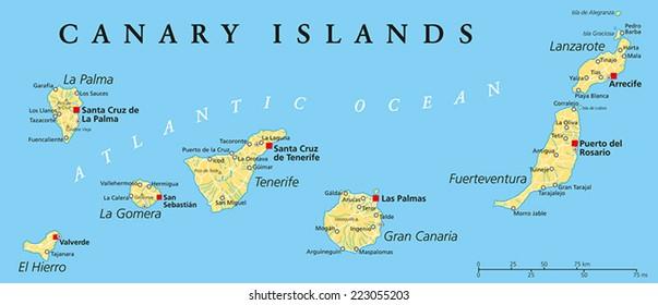 Tenerife Map Images, Stock Photos & Vectors | Shutterstock