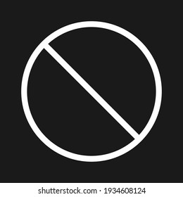 Cancel, forbidden, disabled icon vector image. Can also be used for arrows and signs. Suitable for use on web apps, mobile apps and print media.