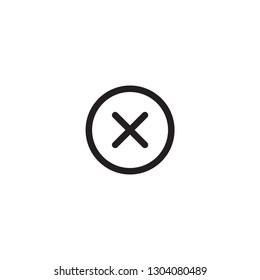 Cancel icon. Cancel close button on white background icon. Cancel icon graphic design vector symbol - Vector
